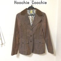 HoochieCoochieコーデュロイテーラードジャケット茶38号