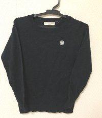AMPERSAND ワッペン付き 長袖ニット/セーター黒110