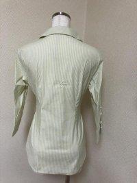 画像3: ETHIQUE(エティック) ウエストリボン ストライプシャツ グリーン