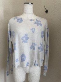 ANDEMIU ふんわり起毛長袖ニット/セーター水色