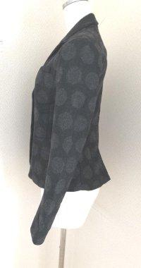 画像2: GAP小さいサイズウールテーラードジャケット黒ドットXXS