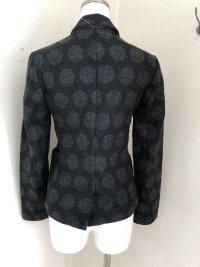 画像3: GAP小さいサイズウールテーラードジャケット黒ドットXXS