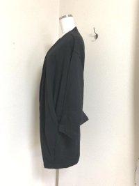 画像3: ラシュッド バックベルト スウェット素材 ジャケット黒