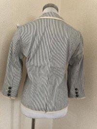 画像3: ARROW(アロー) 7分袖 テーラードジャケット ストライプ