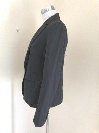 画像3: 就活 bellus closet シングル テーラードジャケット 黒ピンストライプ
