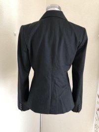 画像2: 就活 bellus closet シングル テーラードジャケット 黒ピンストライプ