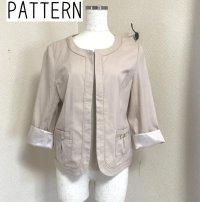 画像1: PATTERN ノーカラージャケット ベージュ M