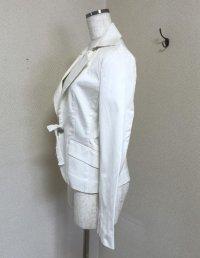 画像2: ミッシェルクラン コットンジャケット ホワイト 40号