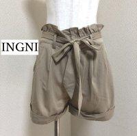 画像1: INGNI ウエストリボン ショートパンツ ベージュ