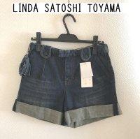 画像1: LINDA SATOSHI TOYAMA ロールアップデニムショートパンツS