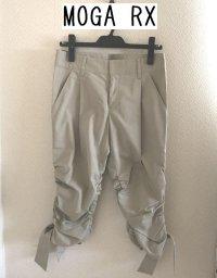 画像1: MOGA RX 裾リボン クロップドパンツ グレージュ2
