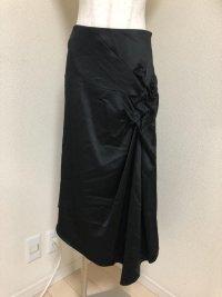RITSUKO SIRAHAMAアシメトリーフォーマルスカート黒1号