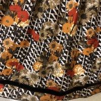 画像2: ルイシャンタン ギャザースカートオレンジ花柄40号