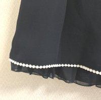 画像2: リピエール セレモニーギャザースカート紺