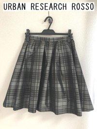 画像1: アーバンリサーチロッソ URBAN RESEARCH ROSSO チェックタフタスカート
