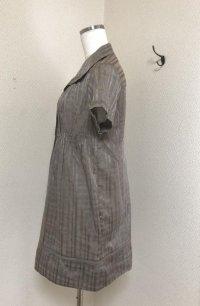 画像2: メイソングレイ シアーチェック 半袖ワンピース