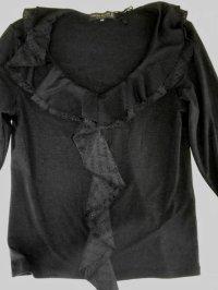 画像3: リミテッドエディション7分袖フリル付きカットソー黒38号