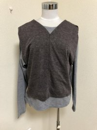 画像2: OSMOSIS loaf 2WAYレイヤードTシャツ  グレー
