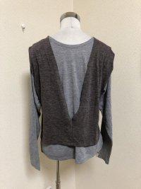 画像3: OSMOSIS loaf 2WAYレイヤードTシャツ  グレー