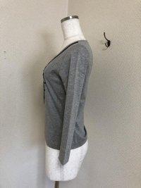画像3: sutseso スチェッソ ロープ刺繍 カットソー40号 グレー