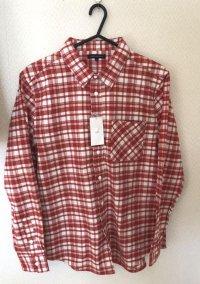 アーバンリサーチ メンズ チェックネルシャツ 赤 40号