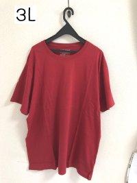 画像1: back point メンズ 半袖Tシャツ レッド 3L 無地Tシャツ