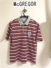 画像1: McGREGOR(マックレガー)半袖 ラガーシャツ レッドL