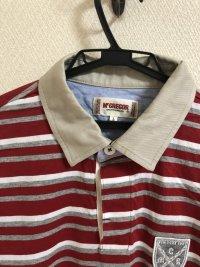 画像3: McGREGOR(マックレガー)半袖 ラガーシャツ レッドL