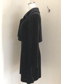 画像3: フォーマル2点セット ベルベット ジャケット&ワンピース 黒