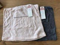 あったか構造 袋編み ふんわりやわらかタッチ ボディウォーマー 2枚セット