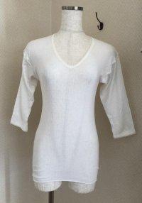 画像1: 旭化成ナイロン レディース7分袖インナーシャツ白 S