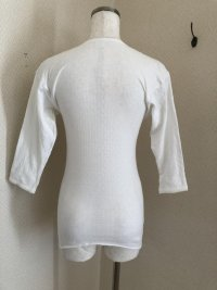 画像2: 旭化成ナイロン レディース7分袖インナーシャツ白 S