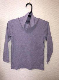 GU 裾フリルケーブルセーター150 ピンク