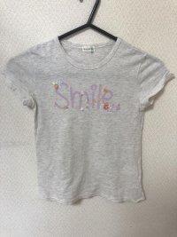 KP SMILEプリント半袖カットソーグレー130