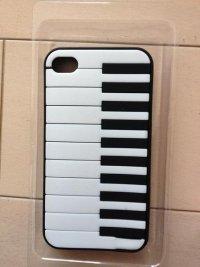 アイフォン44Sシリコンケースピアノ