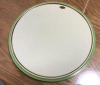有田焼足付き陶板ライトグリーン