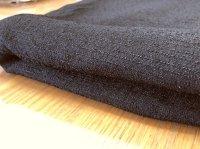 さらさら夏 織素材 黒無地 化繊 布地 110×100