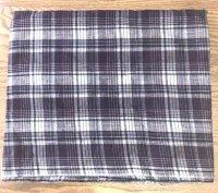 インド綿 タータンチェック柄 ハンドメイド布地 パープルラメ 118×100(240)