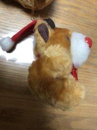 画像3: クリスマスオーナメント 真っ赤なおはなのトナカイさん ぬいぐるみチャーム 9個セット