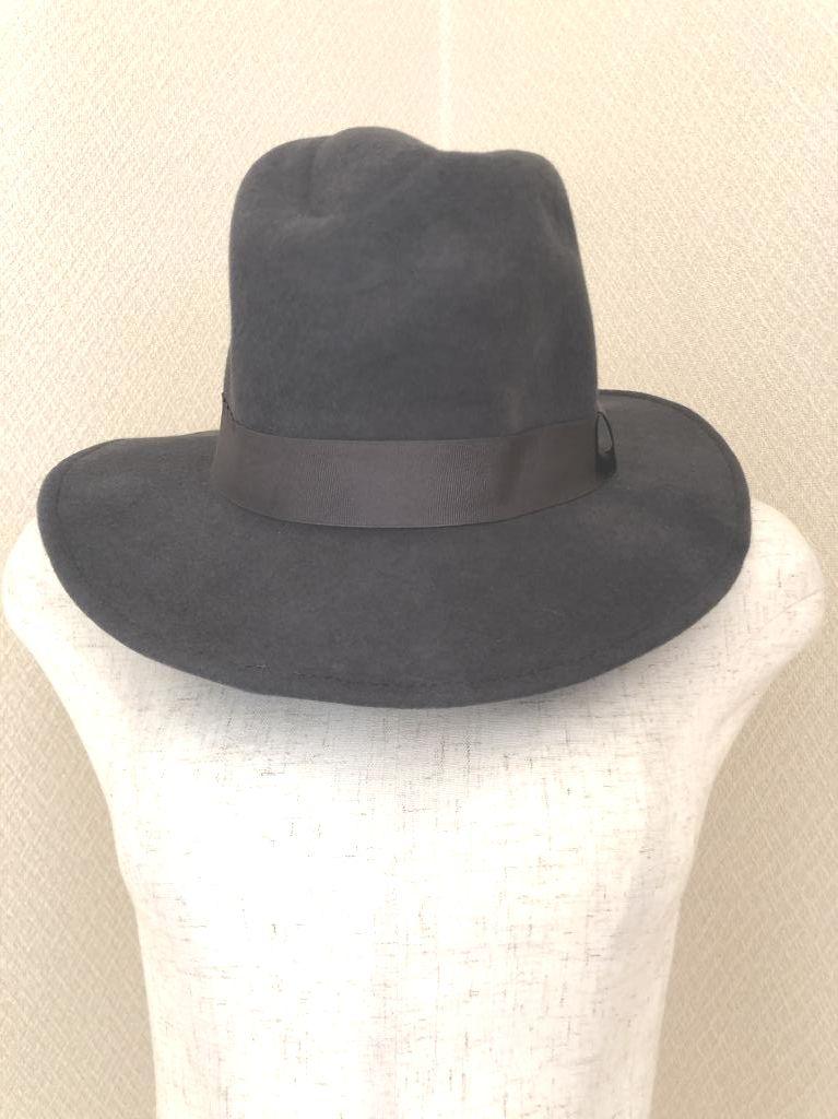 画像1: 31sans de Mode ウール100 エレガントハット 帽子 グレー (1)